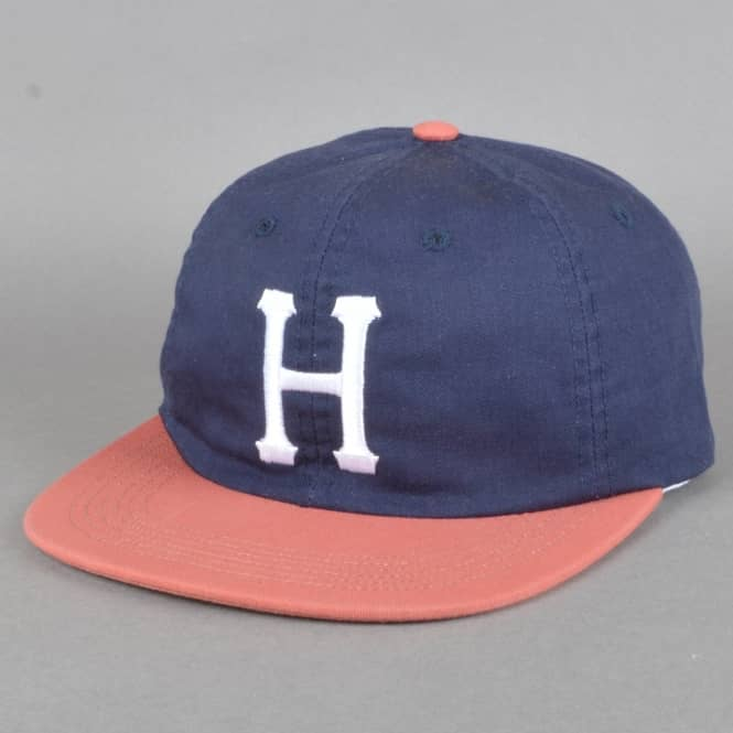 HUF Classic H 6 Panel Cap - Navy/Red