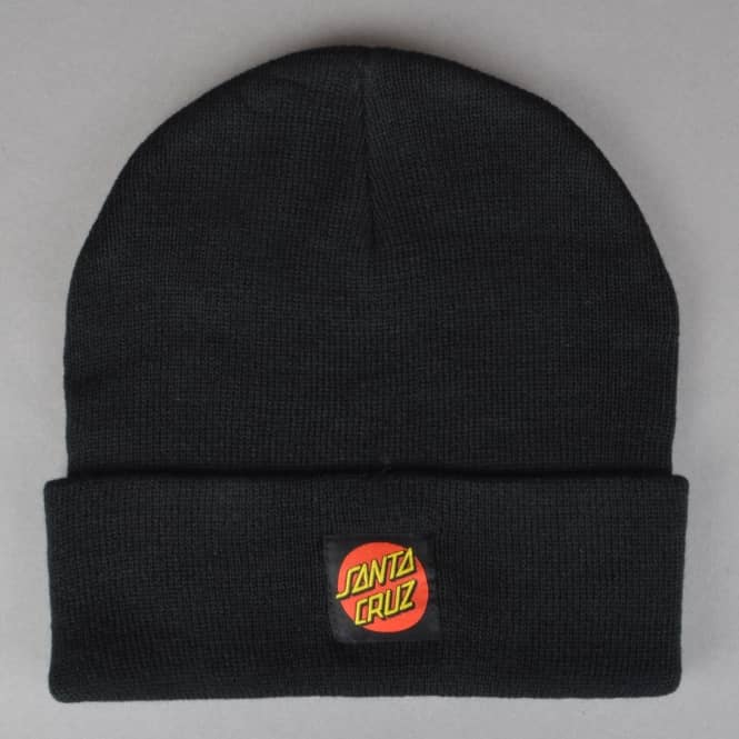 Santa Cruz Skateboards Classic Label Dot Skate Beanie - Black