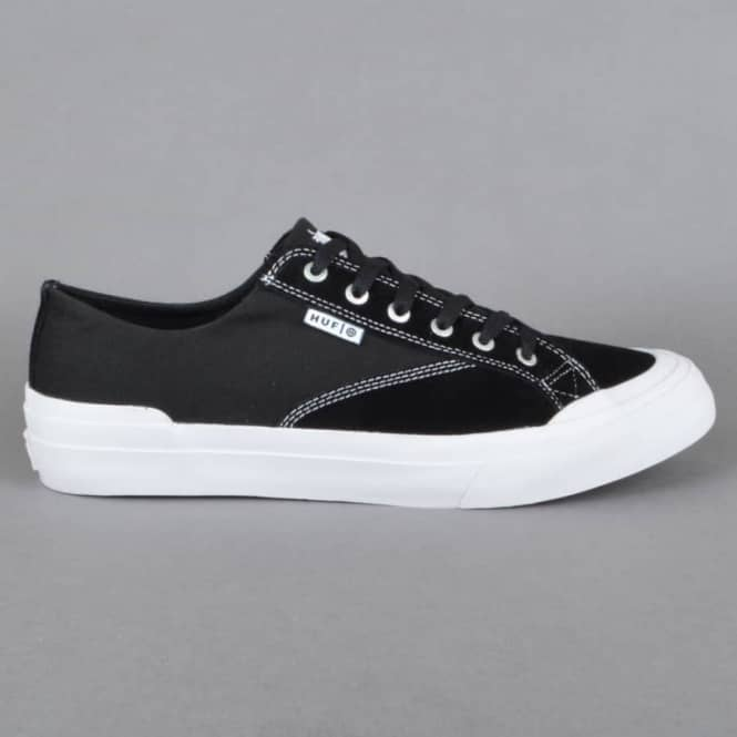 HUF Classic Lo ESS Skate Shoes - Black/White