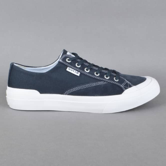 HUF Classic Lo ESS Skate Shoes - Navy/White