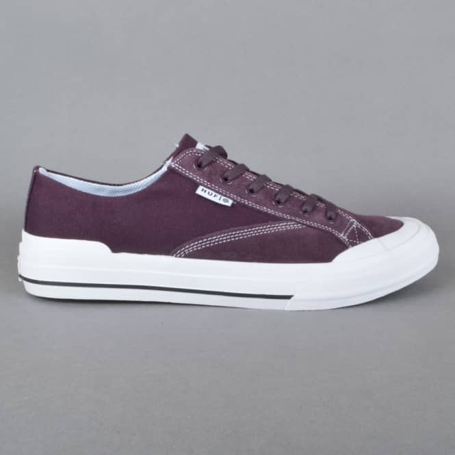 HUF Classic Lo ESS Skate Shoes - Wine
