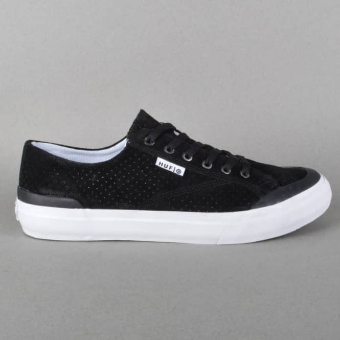 HUF Classic Lo Skate Shoes - Black Perf/White