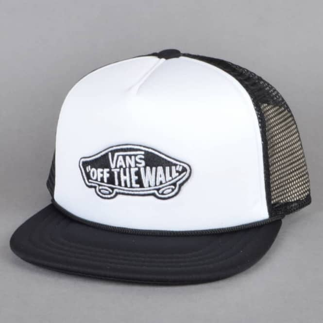 75c038cf Vans Classic Patch Trucker Cap - White/Black - SKATE CLOTHING from ...