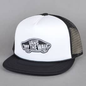 Classic Patch Trucker Cap - White/Black