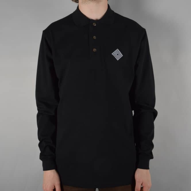 The National Skateboard Co. Classic Polo Longsleeve Top - Black