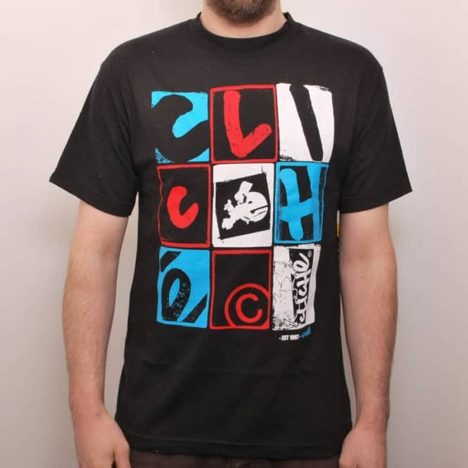 Cliche Skateboards Cliche Letterpress Skate T-Shirt Black