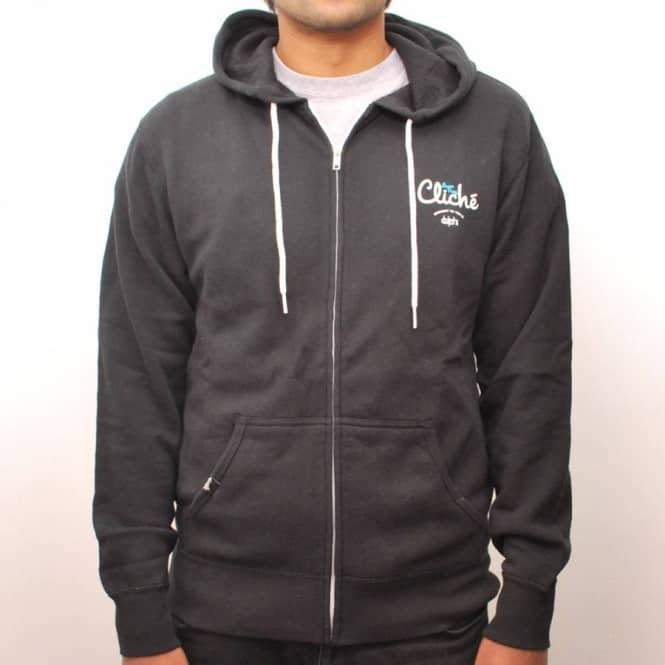 Cliche Skateboards Cliche Lucas Puig x Irving 10 Year Zip Hooded Top - Black
