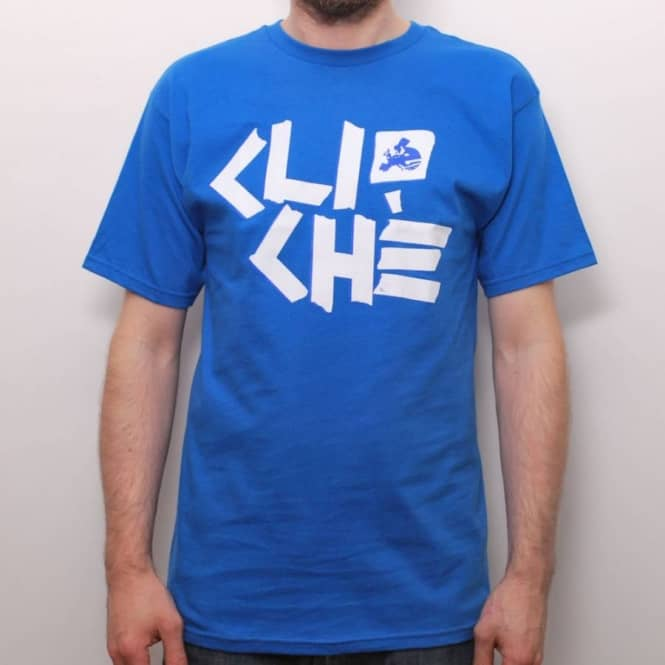 Cliche Skateboards Cliche Scotch Tape T-Shirt Royal Blue