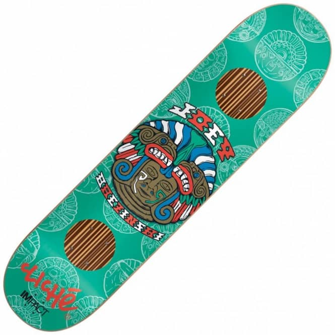 Cliche Skateboards Brezinski Mask Series Impact Support Skateboard Deck 8.0
