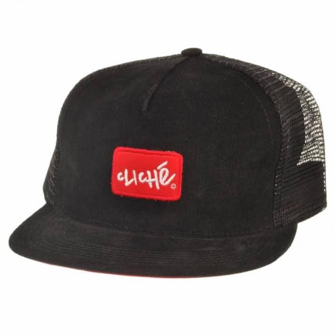 518f59fc8e3 Cliche Skateboards Cliche Cheney Mesh Backed Cap Black - Caps from ...