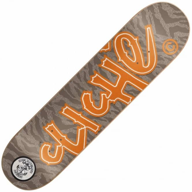 Cliche Skateboards Cliche Handwritten Camo Patch Skateboard Deck 8.3''