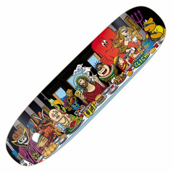 Cliche Skateboards Cliche Last Supper Cruiser Skateboard Deck 8.7''