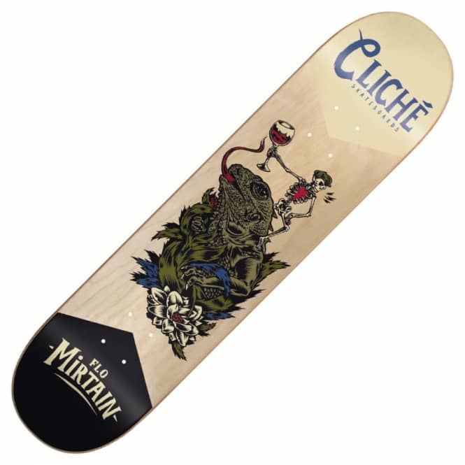 Cliche Skateboards Flo Mirtain Swanski Greedy Reaper Series Skateboard Deck 8.0""