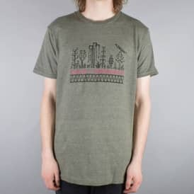 Grip Art Skate T-Shirt - Sage Black Heather