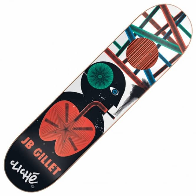 Cliche Skateboards JB Gillet Motion Impact Plus Skateboard Deck 8.1''