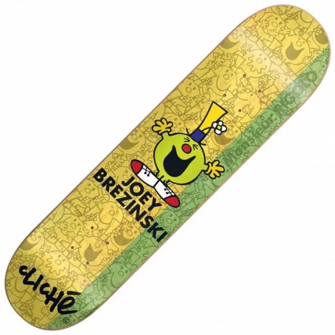 Cliche Skateboards Joey Brezinski Monsieur Madame Skateboard Deck 8.25