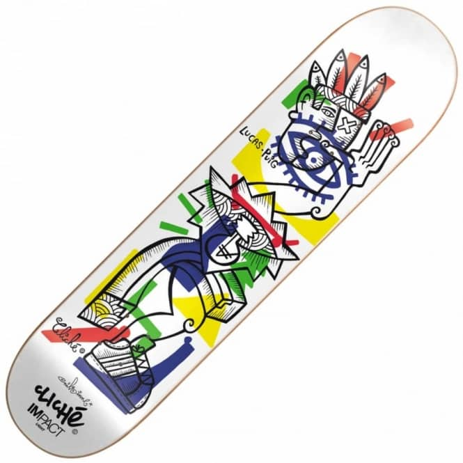 Cliche skateboards lucas puig nils impact light skateboard deck 775 lucas puig nils impact light skateboard deck 775quot aloadofball Choice Image