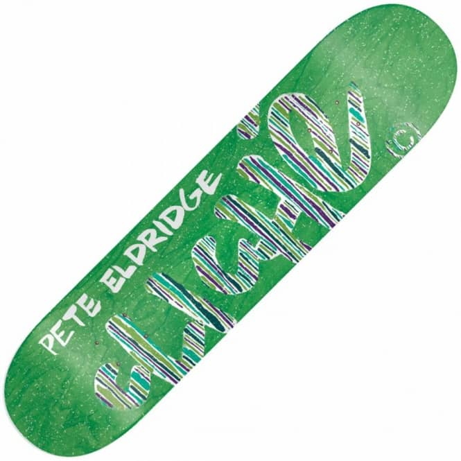 Cliche Skateboards Pete Eldridge Stripes Skateboard Deck 8.25