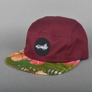 Cliche Skateboards Wallace 5 Panel Cap - Wine/Floral