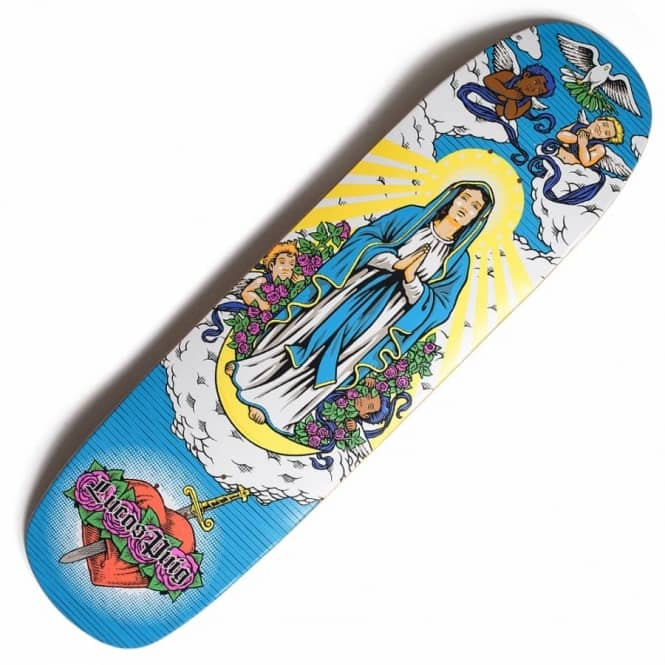Cliche Skateboards X 101 Lucas Puig Virgin Mary Tribute Skateboard Deck 8.5""