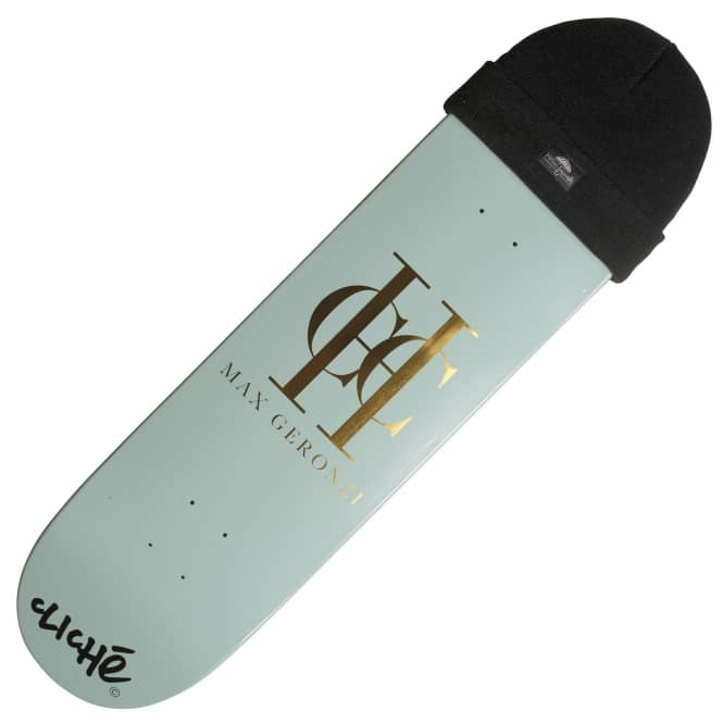 Cliche Skateboards x Helas Geronzi Powder Blue Skateboard Deck 8.125