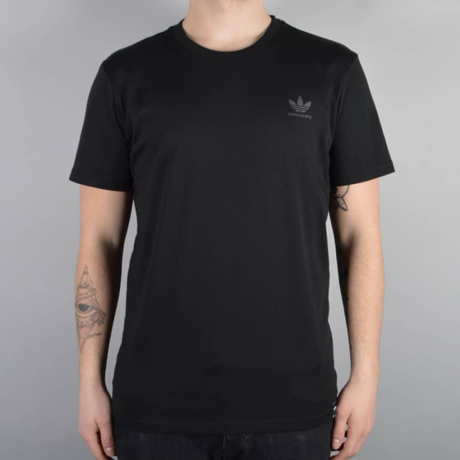 Amperio clérigo Culpable  Adidas Skateboarding Clima 2.0 Skate T-Shirt - Black/Black - SKATE CLOTHING  from Native Skate Store UK