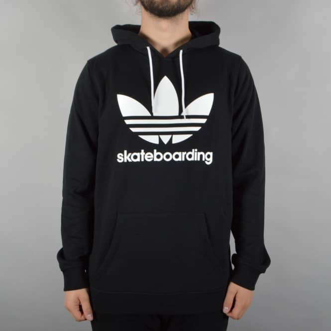 Adidas Skateboarding Clima 3.0 Pullover Hooded Top - Black/White