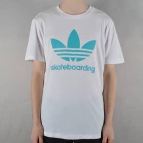 284d0452 Clima 3.0 Skate T-Shirt - White/Energy Blue. Adidas Skateboarding ...