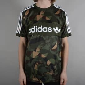 Clima Camouflage Club Jersey Skate T-Shirt - Camo Print