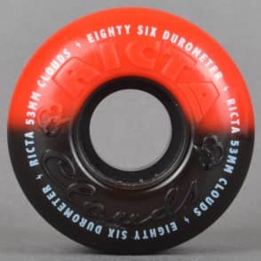 Ricta Wheels Clouds Duo Tones Red/Black 86A Skateboard Wheels 53mm