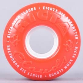 Clouds Red/White 86A Skateboard Wheels 55mm