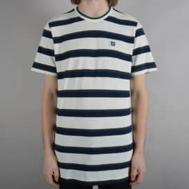 Clubhouse Striped Tee - White/Indigo/Green