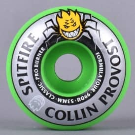 Collin Provost Green Burner 99D Classic Formula Four Skateboard Wheels 53mm