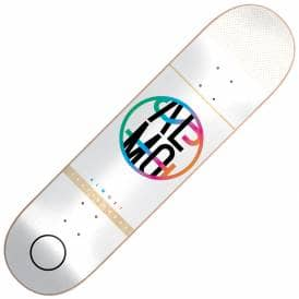 Colour Crash White Skateboard Deck 7.5