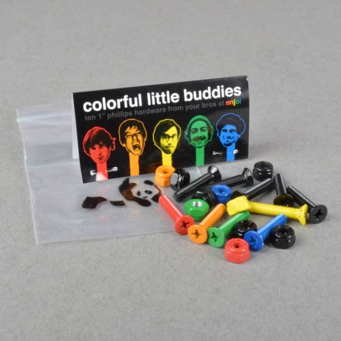 Enjoi Skateboards Colourful Little Buddies Truck Bolts 1