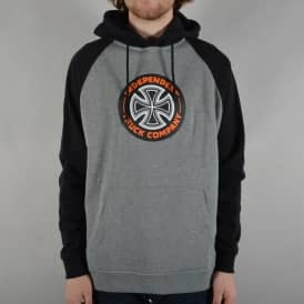 Combi TC Raglan Pullover Hoodie - Black/Dark Heather Grey