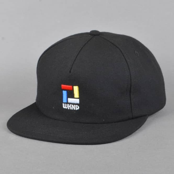 WKND Skateboards Composition Snapback Cap - Black