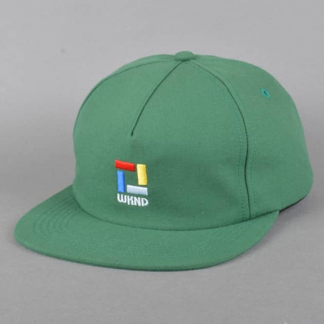 WKND Skateboards Composition Snapback Cap - Green