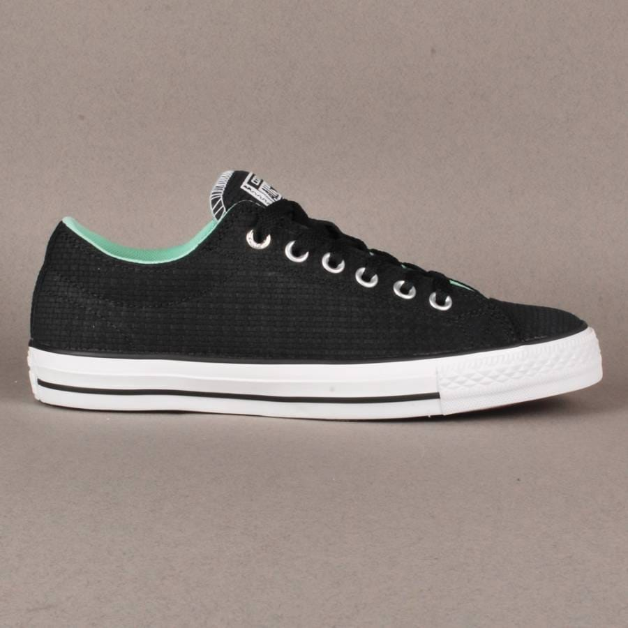 converse converse cts ox skate shoes black white
