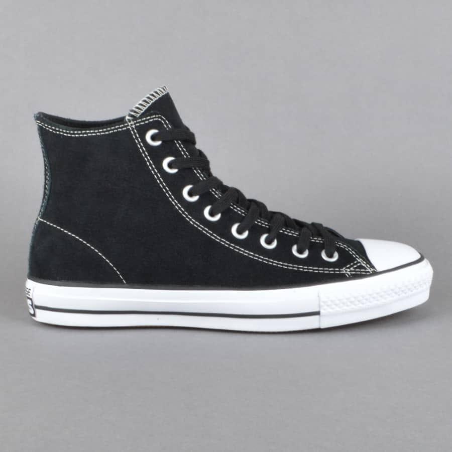 Converse CTAS Pro Hi Skate Shoes - Black/White - Converse ...
