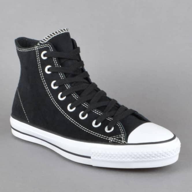 ab8e7395532d Converse CTAS Pro Hi Skate Shoes - Black White - SKATE SHOES from ...