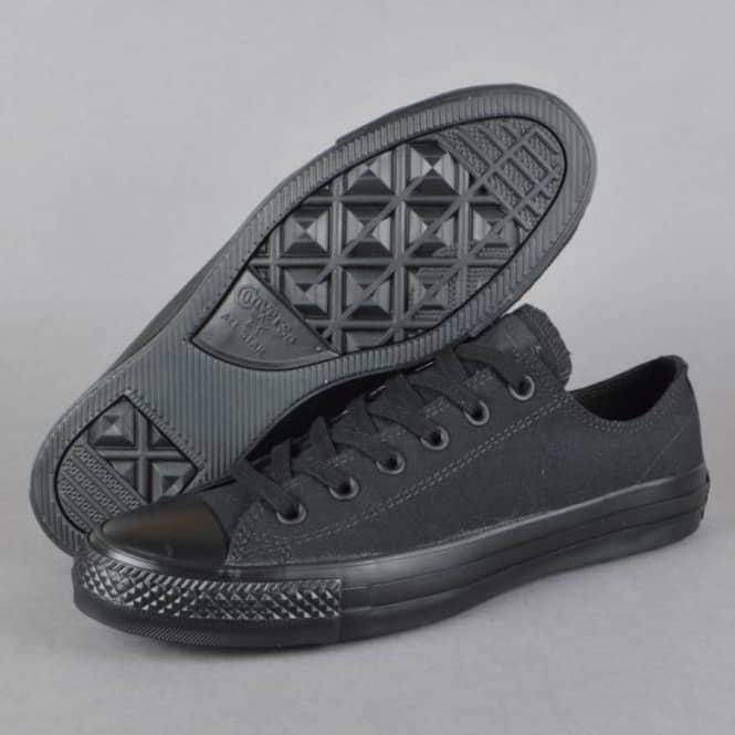 5a40a0ff03c8 Converse CTAS Pro OX Canvas Skate Shoes - Black Black - SKATE SHOES ...