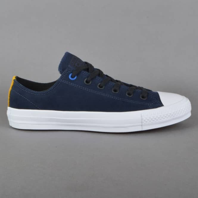 Converse CTAS Pro Suede OX Skate Shoes - Obsidian/Black/White