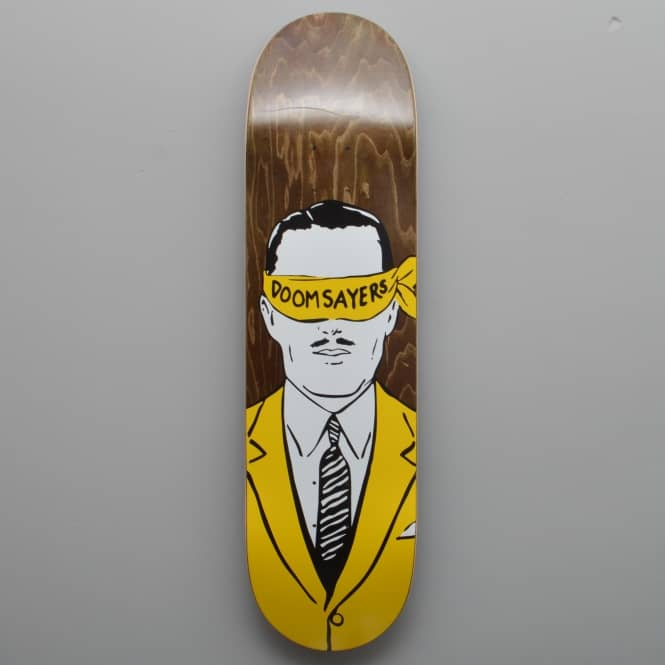 Doomsayers Club Corp Guy (Brown Stain) Skateboard Deck 8.5
