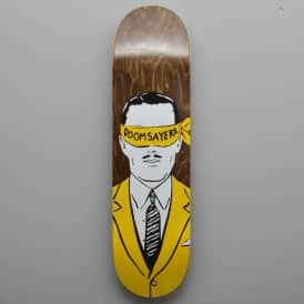Corp Guy (Brown Stain) Skateboard Deck 8.5
