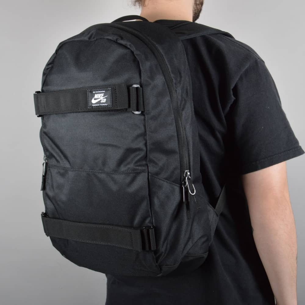 nike sb courthouse skate backpack black black white. Black Bedroom Furniture Sets. Home Design Ideas