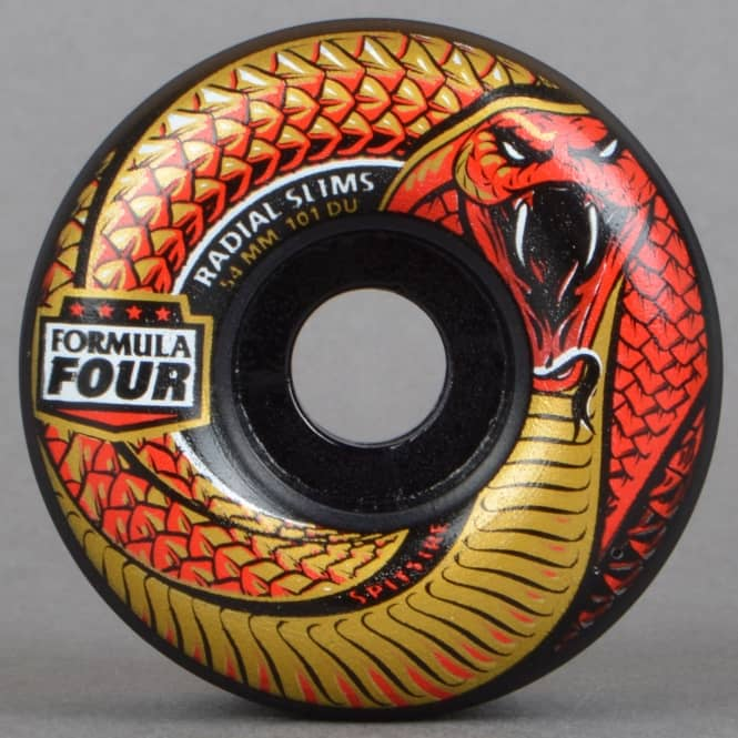 Spitfire Wheels Crawlers Formula Four 101D Radial Slims Black Skateboard Wheels 54mm