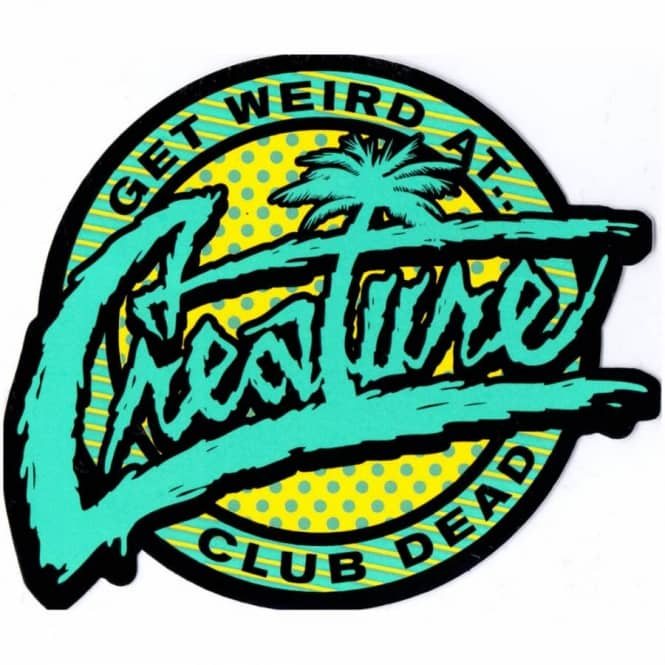 Creature skateboards creature club dead skateboard sticker skateboard stickers from native skate store uk