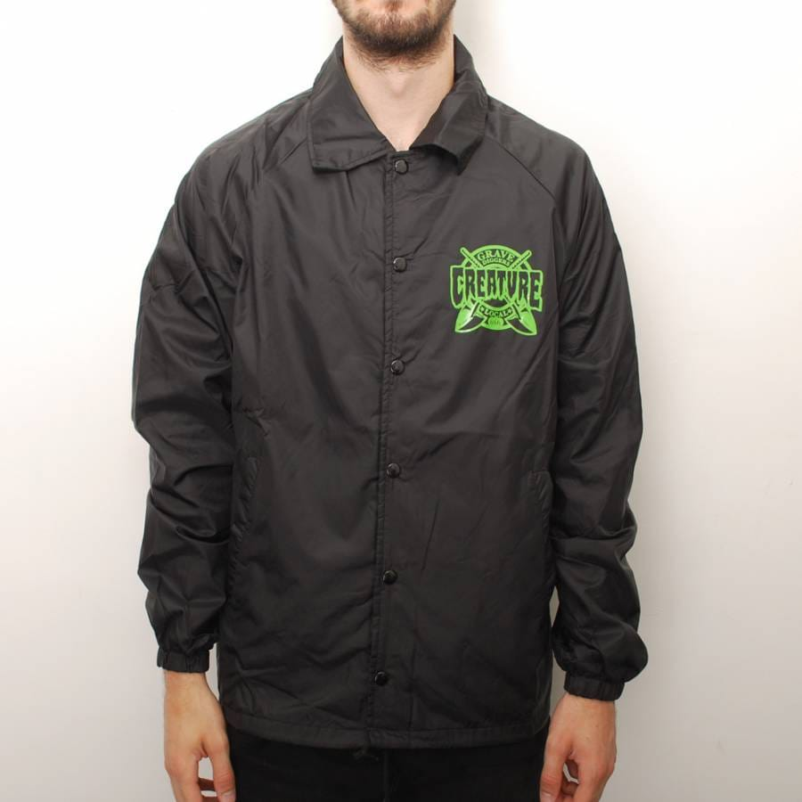 Creature skateboards creature grave diggers coach jacket for Coach jacket