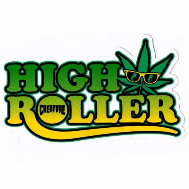 Creature high roller skateboard sticker